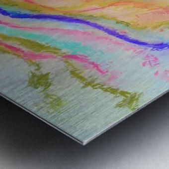 Jellyfish in watercolor Metal print