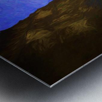 Yachats Beach Painting Metal print