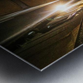Alley light Metal print