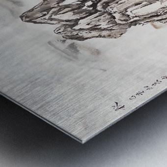 Yangze River with Water Fall Metal print