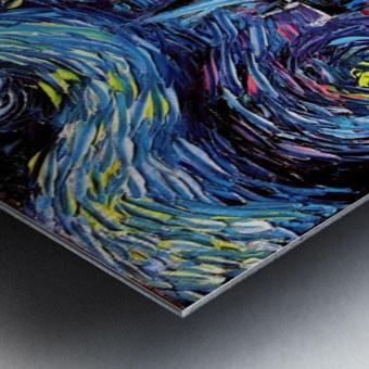 Castle Starry Night print van Gogh parody Metal print