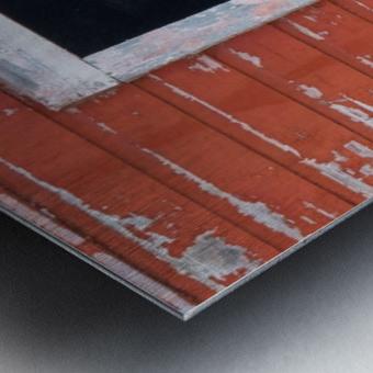 Great Horned Owl - Red Barn Metal print