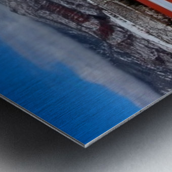 White shroud Metal print
