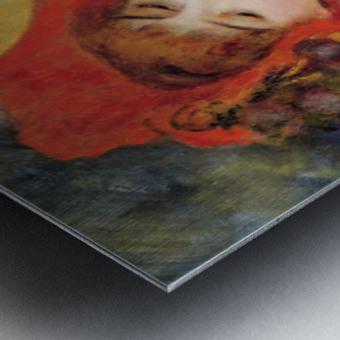 Dance In Bougival Detail By Renoir Metal Print