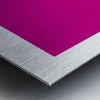 Solid Magenta Process color Metal print