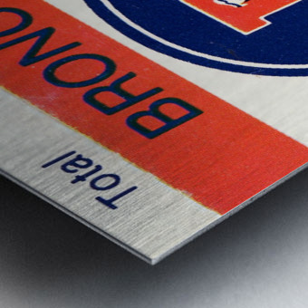 1983 Denver Broncos Football Ticket Stub  Metal print
