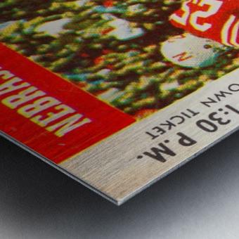 college football ticket art nebraska cornhuskers 1974 ticket stub Metal print