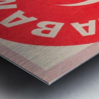 1975 University of Alabama Crimson Tide Football Ticket Stub Art Poster Metal print