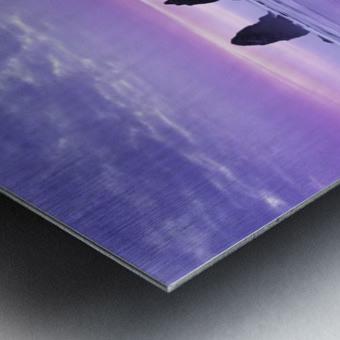 The 1 minute color gap Metal print