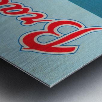 1977 Atlanta Braves Season Ticket Order Form Reproduction Baseball Art Metal print