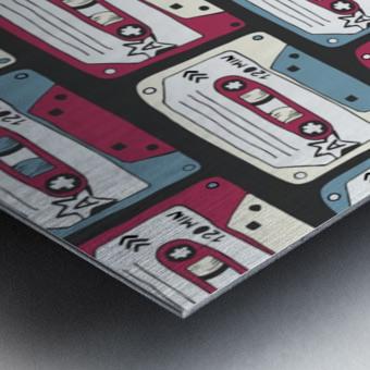 music symbols rock music seamless pattern Metal print