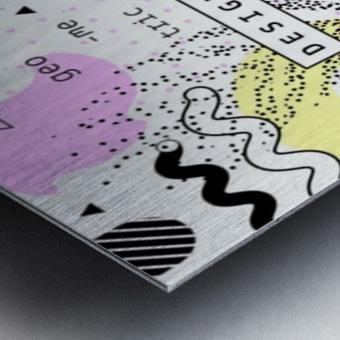 graphic design geometric background Metal print