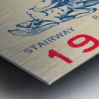 College Football Ticket Stub Collection_1966 USC vs. California Football Ticket Art Row One Brand (1) Metal print