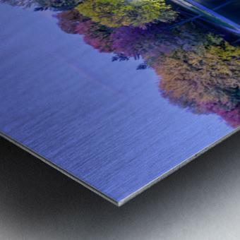Beaver lake reflection Metal print