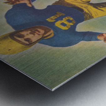 1947 Army vs. Notre Dame Football Program Cover Art_Vintage College Football Program (1) Metal print