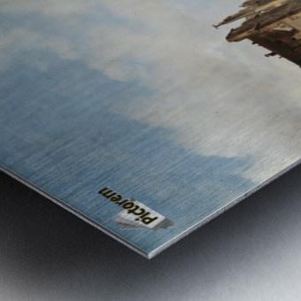 Market view Metal print