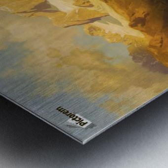 Alpiner Berggipfel Metal print