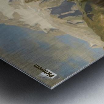 Eine Almwirtschaft Metal print