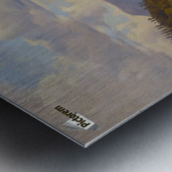 Blick auf den Felsberg im Odenwald Metal print