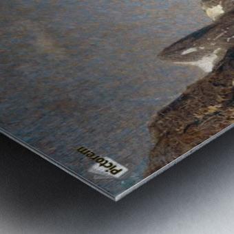 Norwegische Fjordlandschaft Metal print