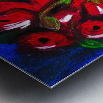 Red Cala Lilies Metal print