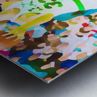 Larry Bird Digital Watercolor Metal print