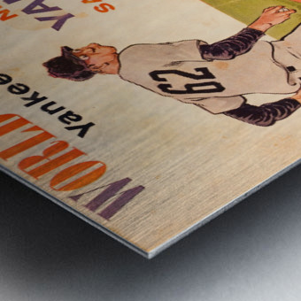 1962 Yankees World Series Program Metal print