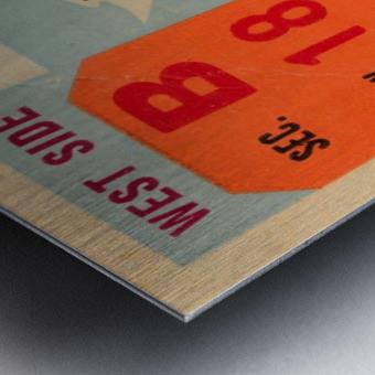 1944 oklahoma sooners osu cowboys ticket stub metal sign college football tickets wood prints art r1 Metal print