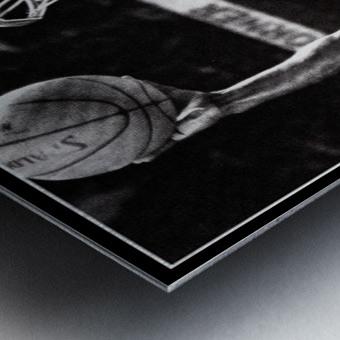 Retro Eighties Michael Jordan Basketball Art Print Metal print