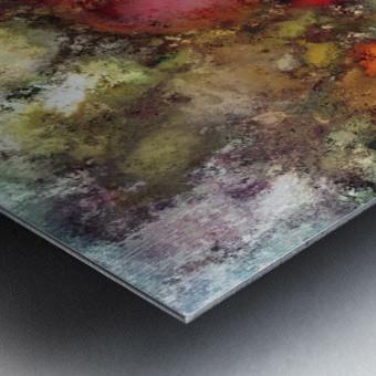 A natural collision of rocks Metal print