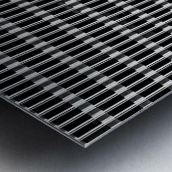 Black and White Skyscraper Windows Impression metal