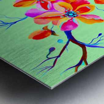 Watercolor Sakura Japanesse Cherry Flowers Metal print