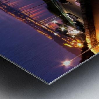 Swansea Bay at night Metal print