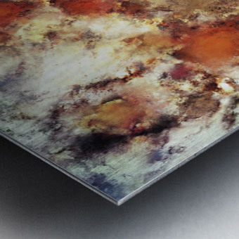 Terracotta tumble Metal print