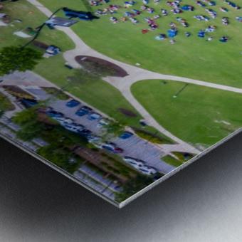 Lakeside High Class of 2020   Graduation Aerial View 0728 05 30 20 Metal print