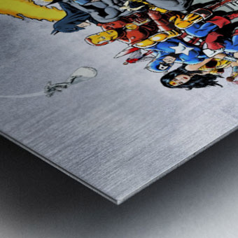 MORE Marvel DC Superheroes Lunch On A Skyscraper New Art Extra Heroes Metal print