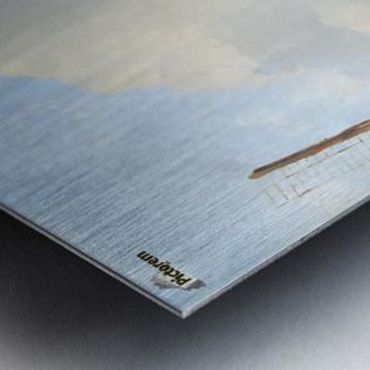 Winterlandscape Sun Metal print