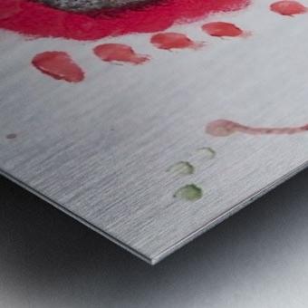 Myona red flower Metal print