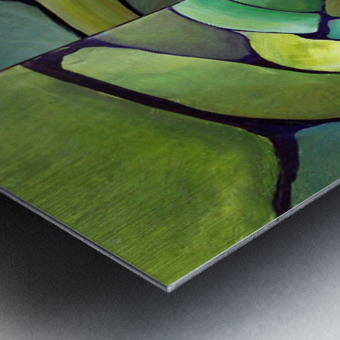 Art Deco_Green _Pattern_displate Metal print