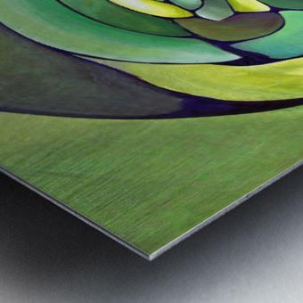 Art Deco_Green _Pattern_A Metal print