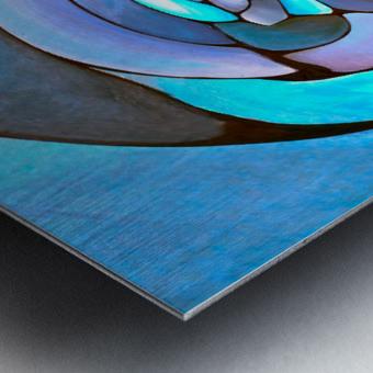 Art Deco_Green _Pattern_Aqua Metal print