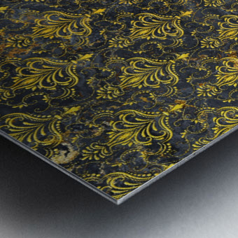 Golden pattern with marble Metal print