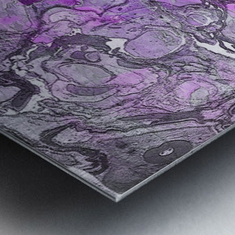 Purple Marble Metal print