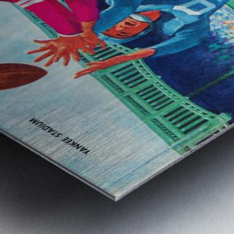 1960 new york giants program cover print on wood Metal print