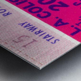 1976 college football usc ucla ticket stub Metal print