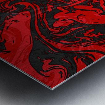 Black & Red Marble II Metal print