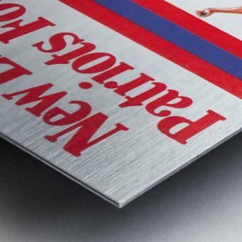 1981 new england patriots vintage nfl poster Metal print