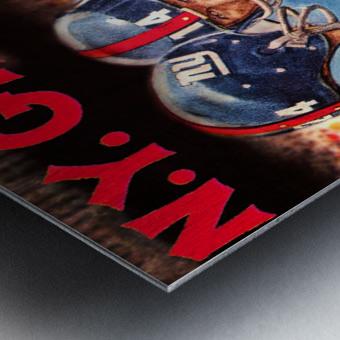 vintage new york giants nfl art poster Metal print