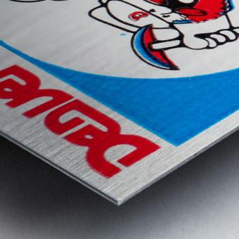 1976 denver nuggets vintage ticket stub art Metal print