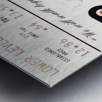 1975 stanley cup finals philadelphia flyers ticket stub hockey poster Metal print